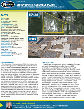 Shreveport Assembly Plant Case Study
